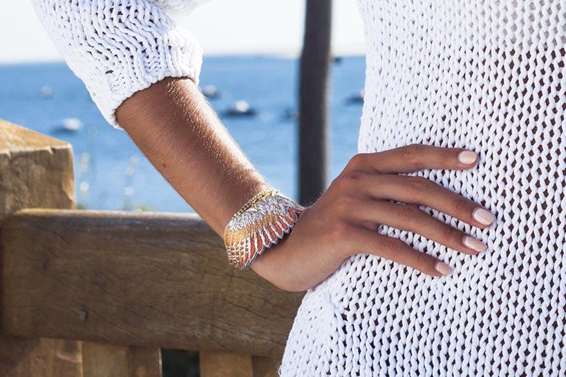 Bracelet bohème Shakti | Nuts/Safran | Photo 5