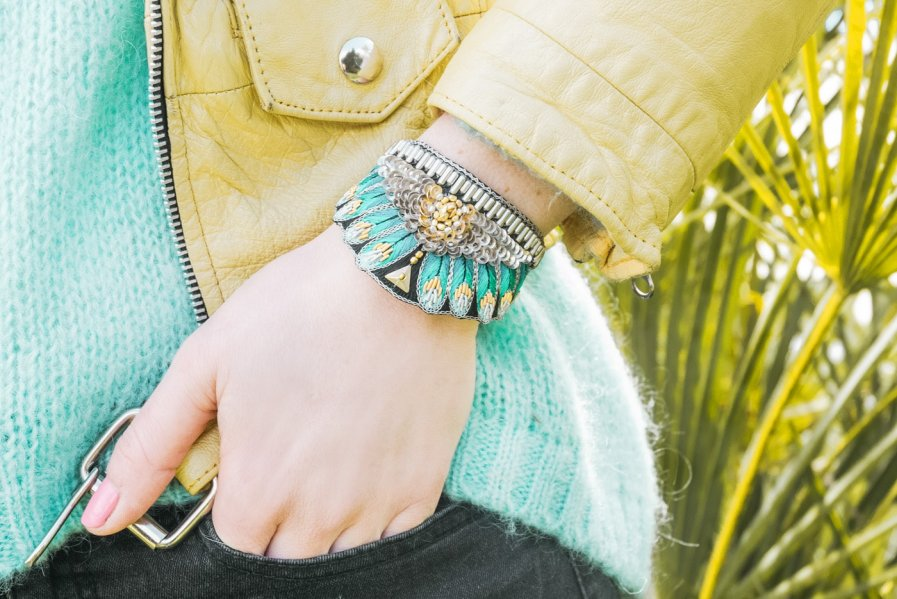 Bracelet ethnique Nita | Green | Photo 1