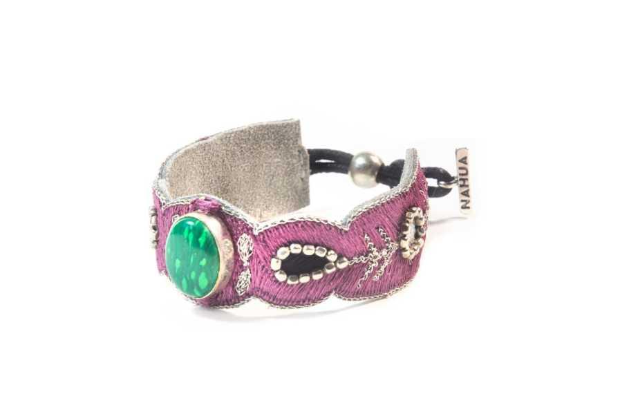 Bracelet chic Opaline | Green/Purple | Photo 2