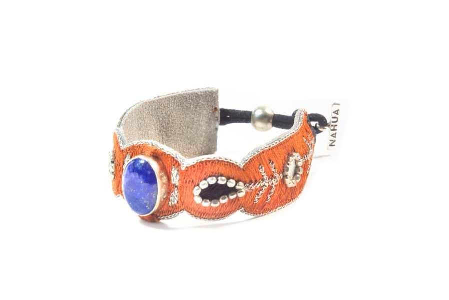 Opaline bracelet - semi precious stone - Blue/Copper | Photo 2