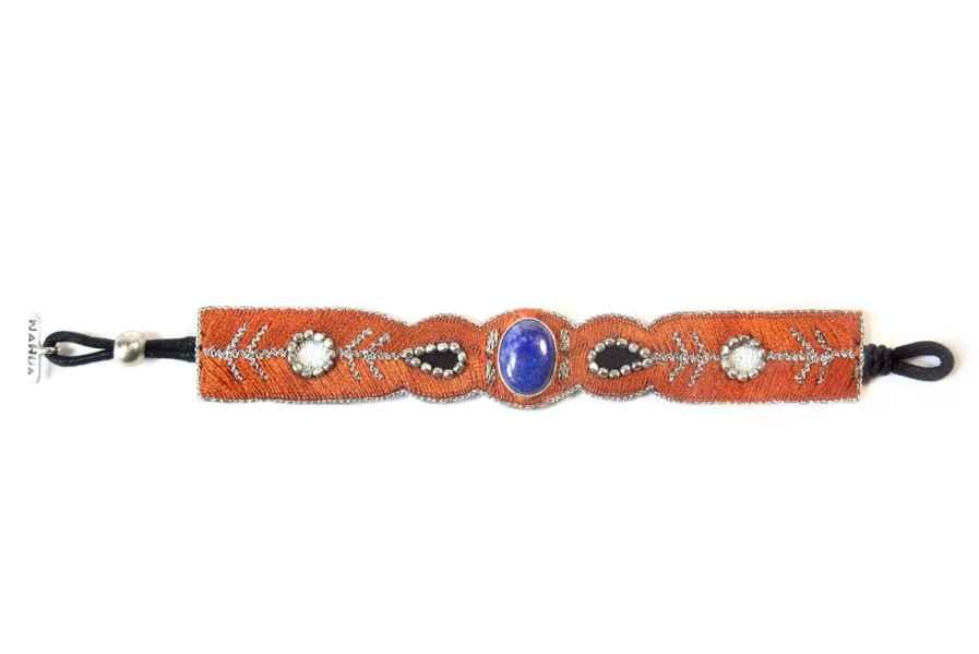 Opaline bracelet - semi precious stone - Blue/Copper | Photo 3