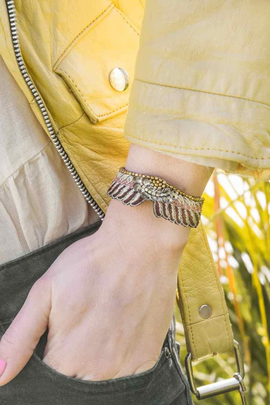 Bracelet bohème Shaila | Prune/Make Up | Photo 1