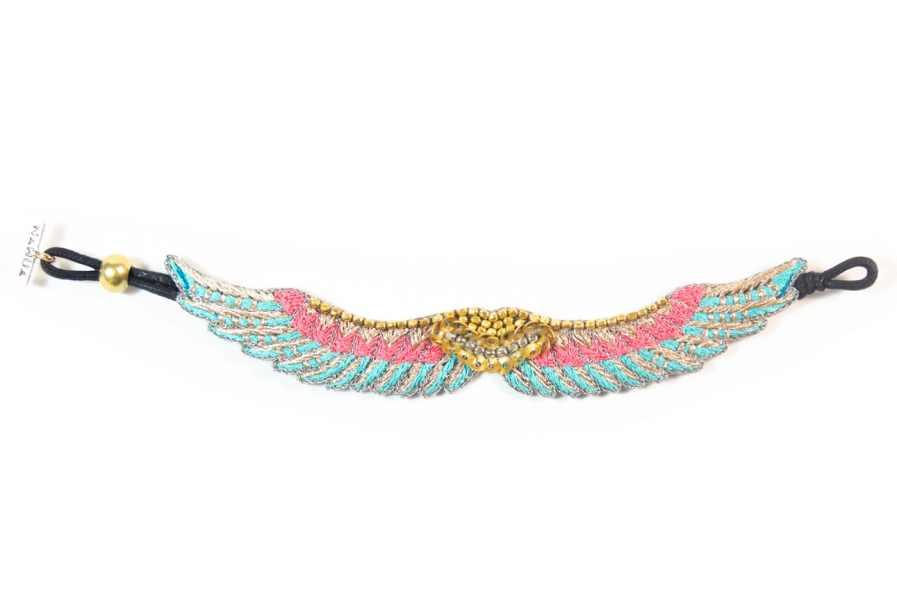 Bracelet bohème Shaila | Turquoise/Pink | Photo 3