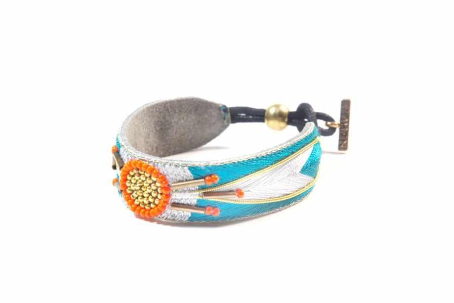 Bracelet ethnique Aprile | Green/Argile | Photo 2