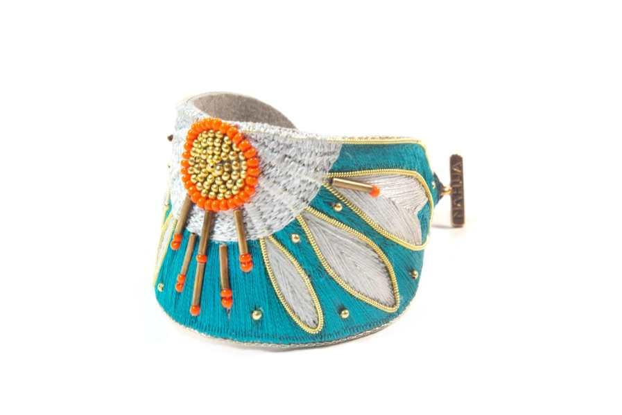Bracelet ethnique Apauline | Green/Argile | Photo 2