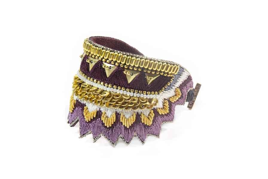 Bracelet ethnique Maheswari   Purple   Photo 2
