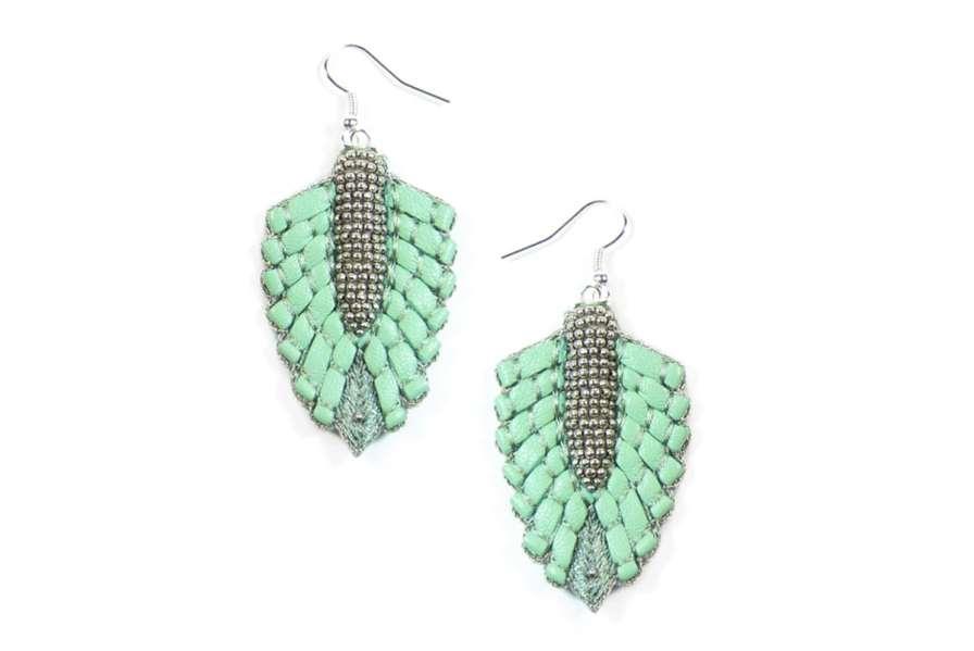 Boucles d'oreilles Colette | Turquoise | Photo 2