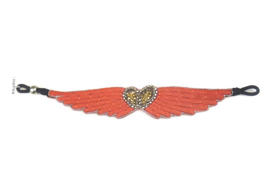 Bracelet cuir Ange   Mandarin   Photo 3