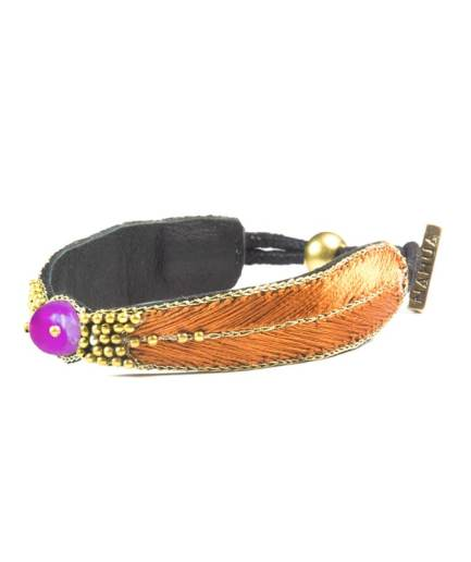 Bracelet Branis Raspberry/Nuts NAHUA