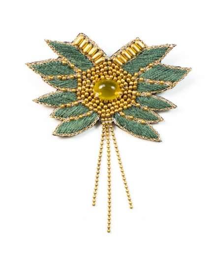Broche Briac Palm/Honey NAHUA