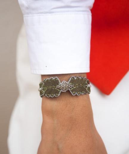 Bracelet cuir Colombe Military NAHUA