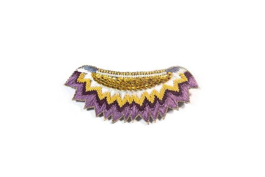 Barrette ethnique Macha | Purple | Photo 2