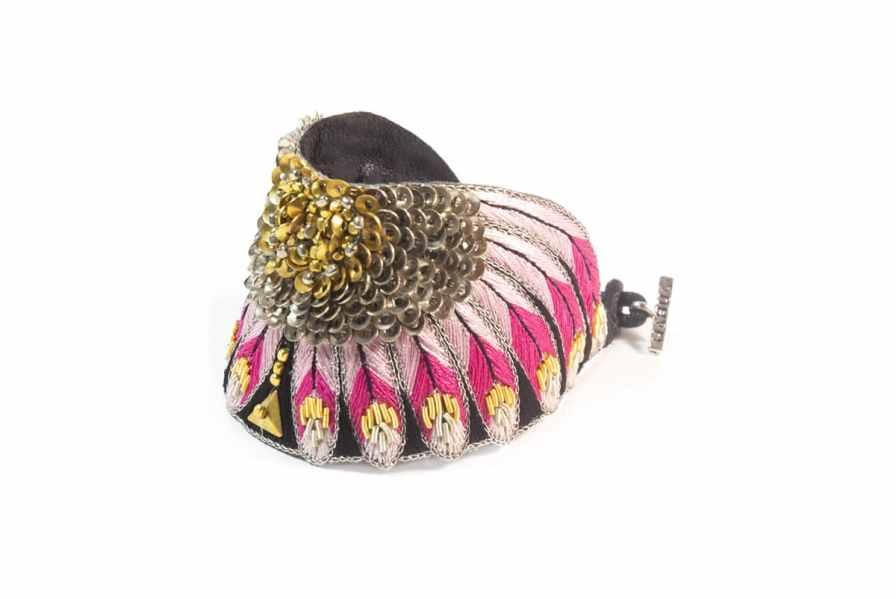 Bracelet ethnique Nikita | Pink | Photo 2