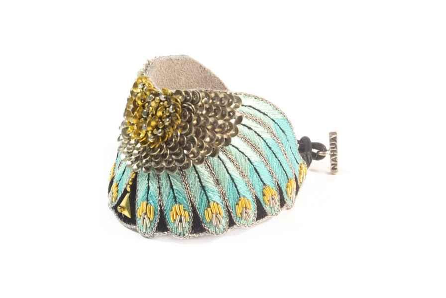Nikita ethnic bracelet | Turquoise | Photo 2