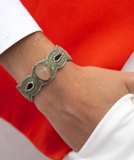 Bracelet Opaline Pink/Mousse NAHUA