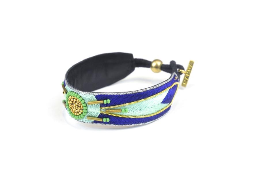 Bracelet ethnique Aprile | Klein/Mint | Photo 2