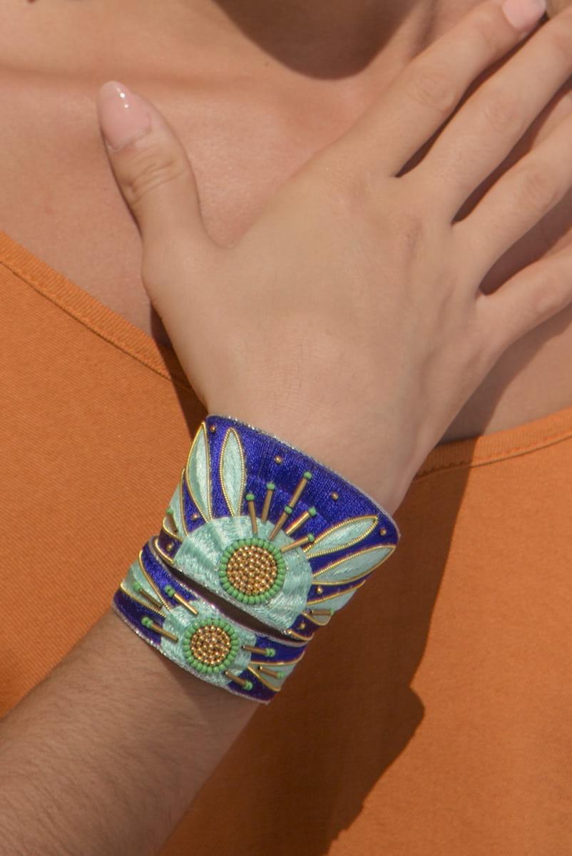 Bracelet ethnique Aprile | Klein/Mint | Photo 1