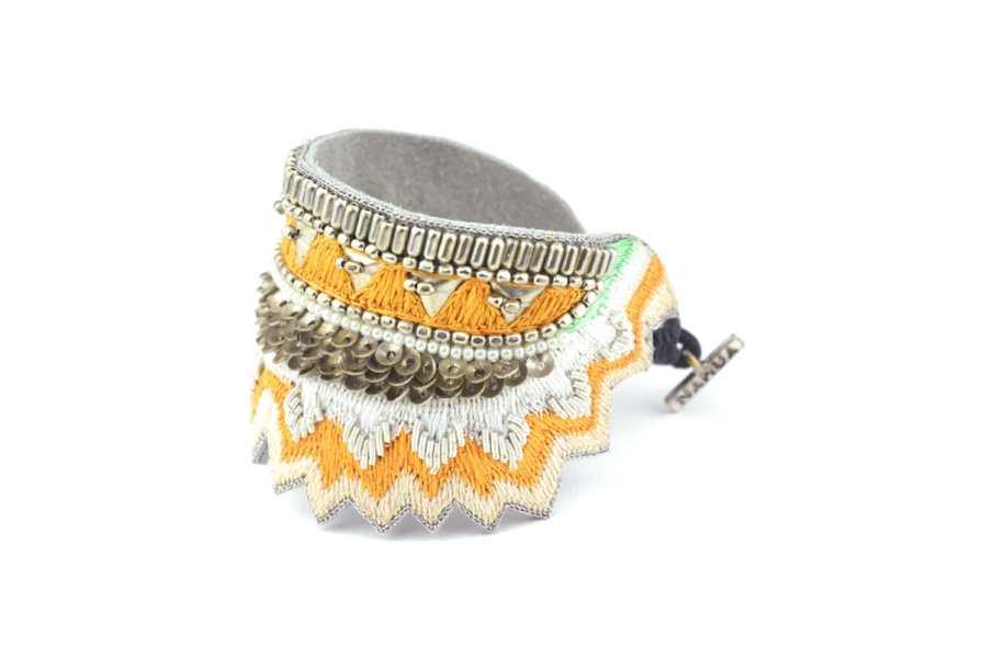 Bracelet ethnique Maheswari | Melon | Photo 2