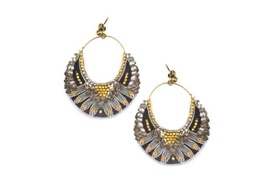 Nida embroidered earrings | Military | Photo 1