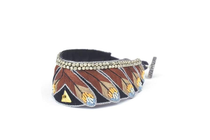 Niall ethnic bracelet | Cappuccino | Photo 2