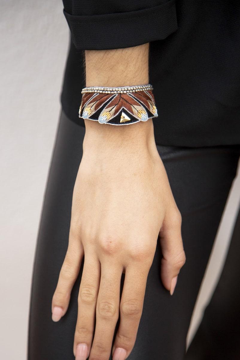 Niall ethnic bracelet | Cappuccino | Photo 1