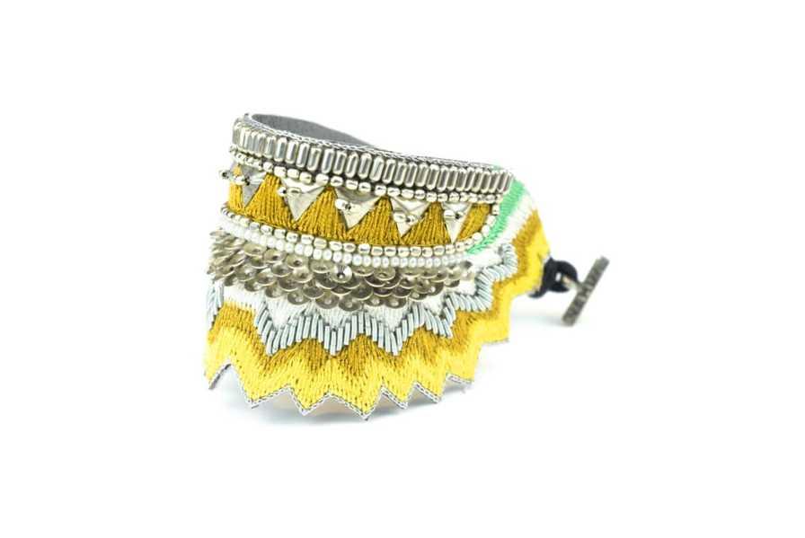Bracelet ethnique Maheswari | Mustard | Photo 2