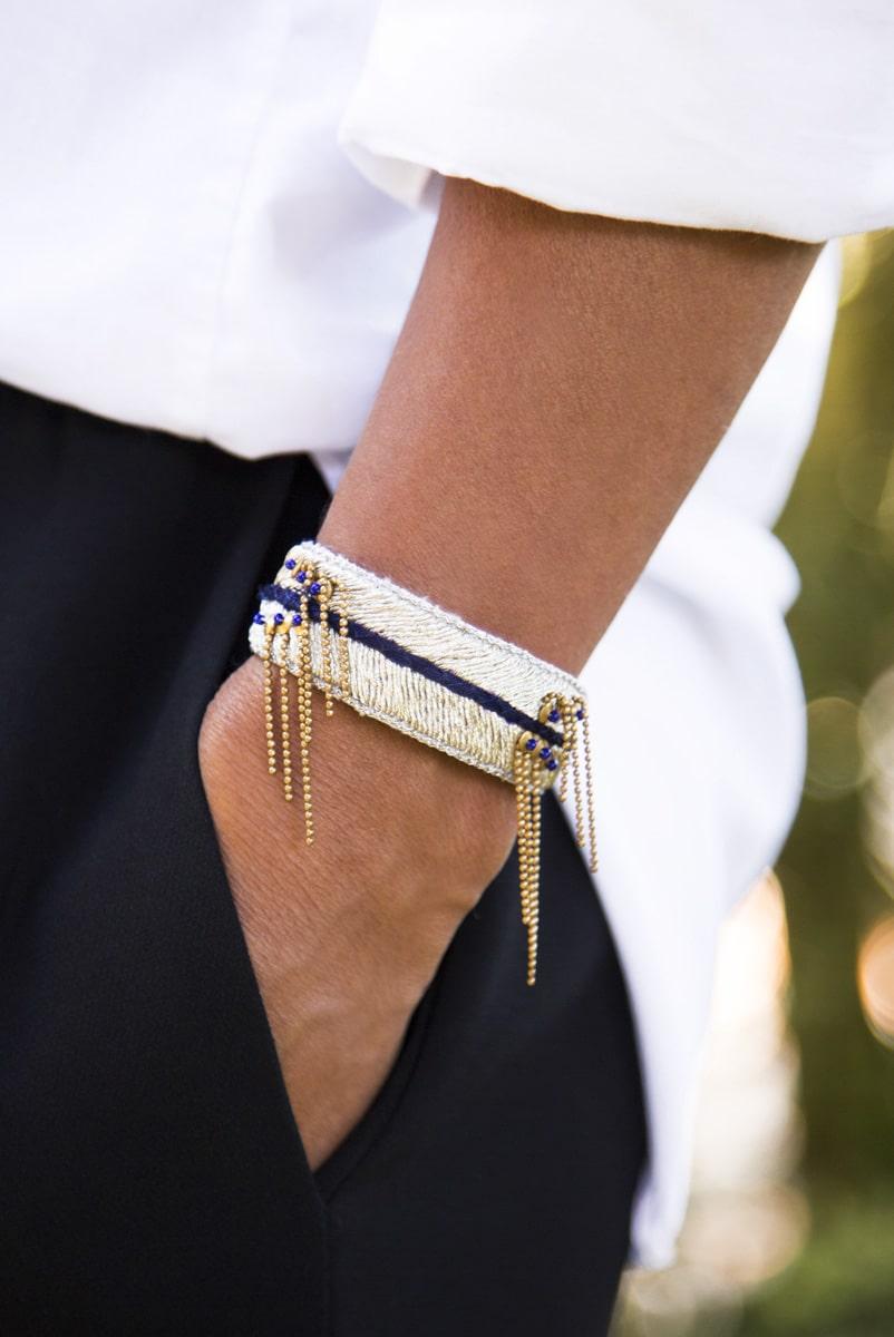 Bracelet chic Dita | Dark blue | Photo 1