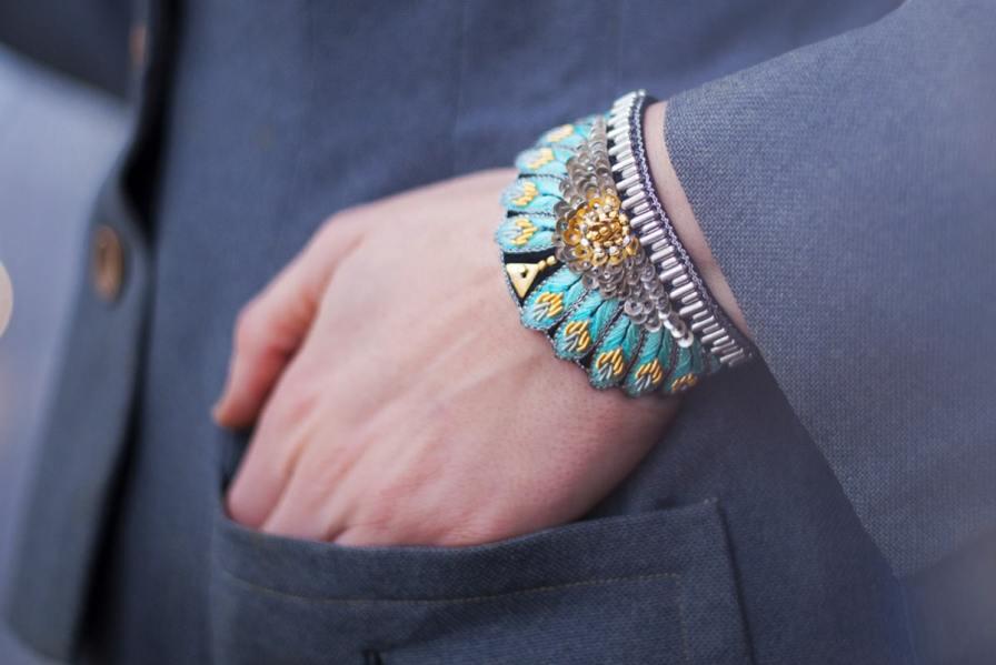 Bracelet ethnique Nita | Turquoise | Photo 1