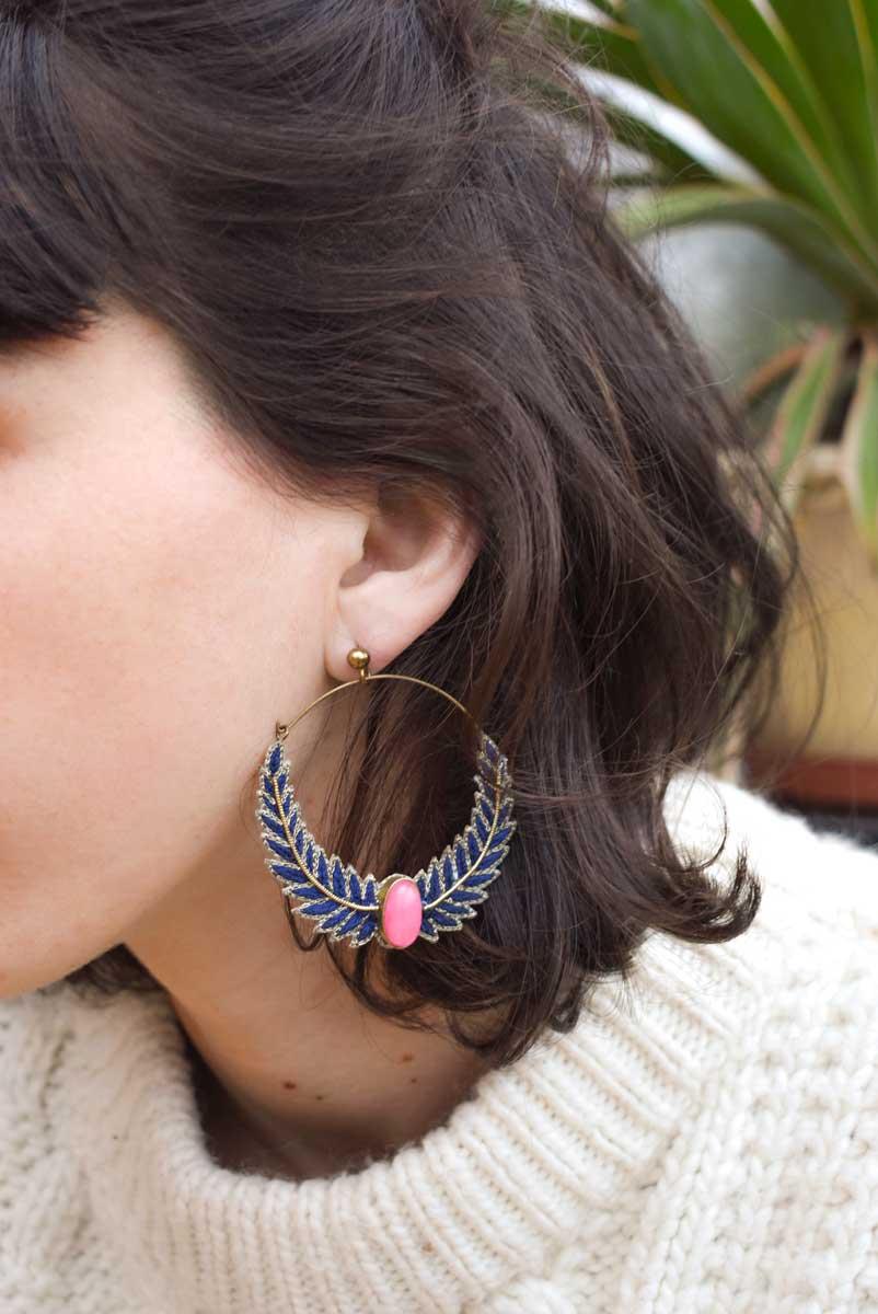 Boucles d'oreilles créoles Lorna | Klein | Photo 1