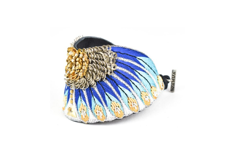 Bracelet ethnique Nikita   Blue greek   Photo 2