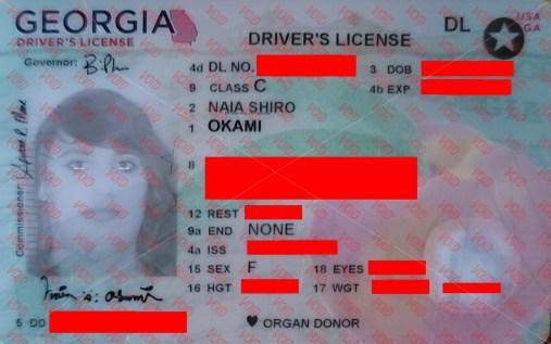 Naia's license