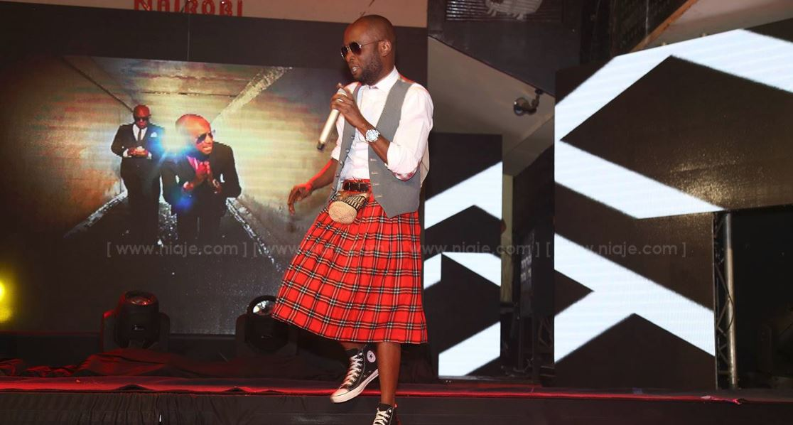 PHOTOS Rapper Collo Wears A Skirt On Stage Naibuzz