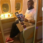 Hushpuppi Wears Gucci From Top To Socks Level To Sleep On Jet