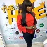 Funke Akindele dazzles in red top as she meets digital entrepreneurs