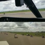 Okada Riders Invaded Sokoto Airport's Runway While A Plane Was Taxiing