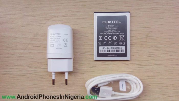 Oukitel c2 battery and charger