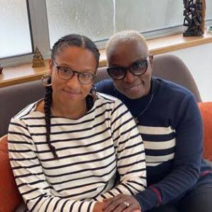 Angelique Kidjo and one of her daughters.