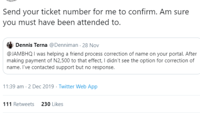 Photo of Nigerians corrects JAMB's wrong English on Twitter