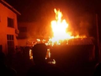 Midnight fire guts Olaleye market in Lagos
