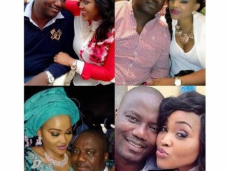 Drama between Mercy Aigbe and her ex husband on father's day