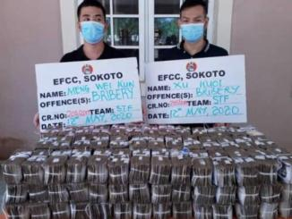 EFCC Official rejects N50m bribe from the Chinese
