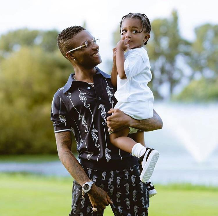 See cute photos of singer, Wizkid and his son, Zion