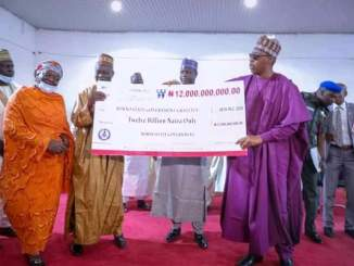 Presents cheques to retirees … N3b earlier released in 2019