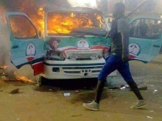 jonathan campaigns bus on fire