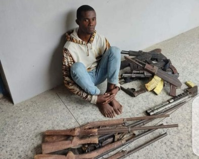 Police arrest Young man Specialized in Producing Guns and sales it Criminals