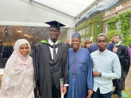 PHOTOS: Ganduje's Son Graduates From UK Varsity