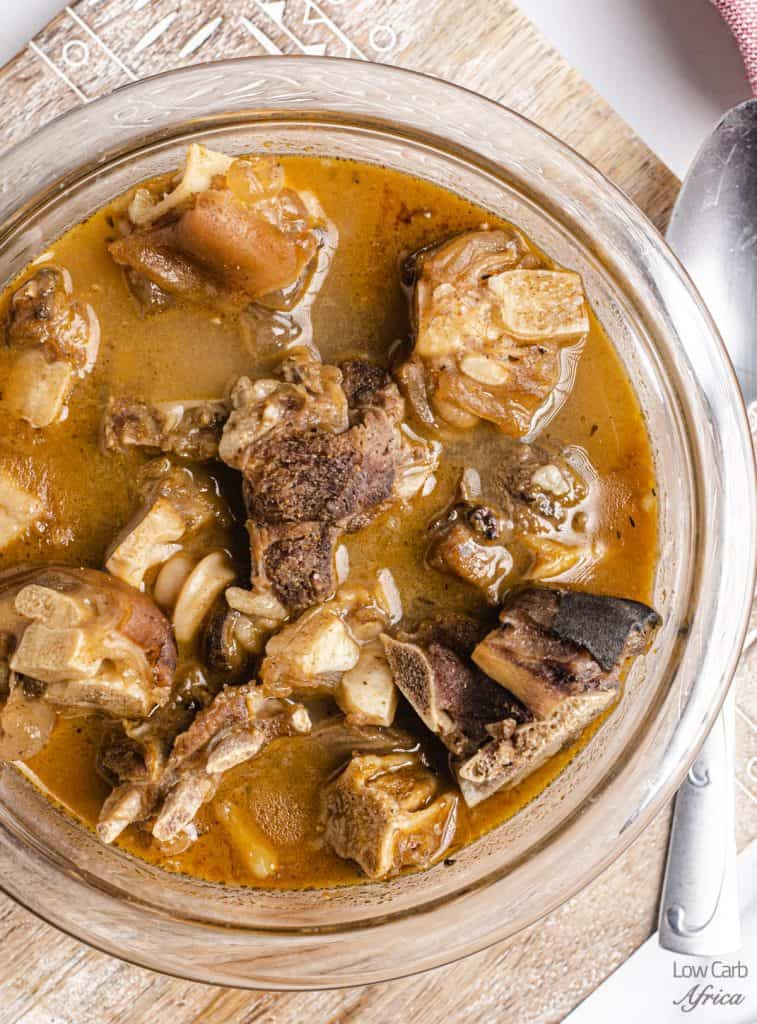 bowl of Africa goat meat pepper soup