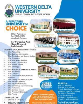 Western Delta University Post-UTME