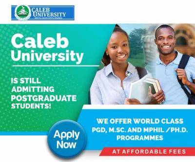 Caleb University Postgraduate Admission
