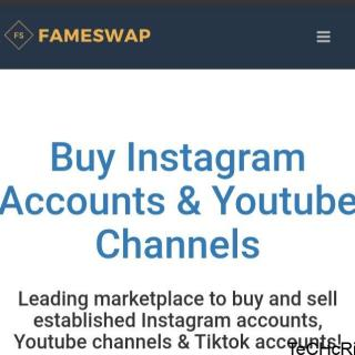 Fameswap - Make Money Selling Instagram Accounts Online